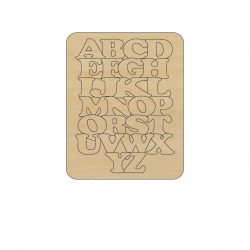 EF-072 abc puzzle dekorációs Falap