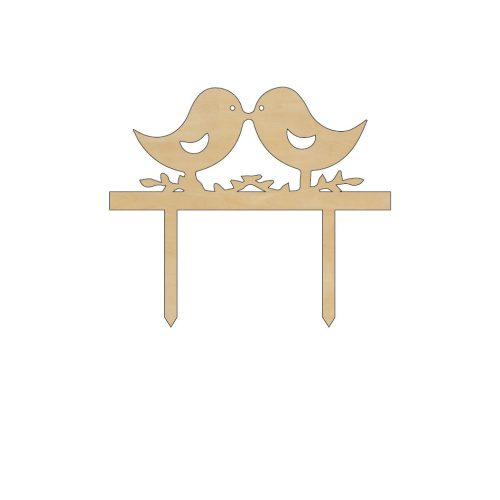 ET-016 tortadisz galambok  dekoráció fából