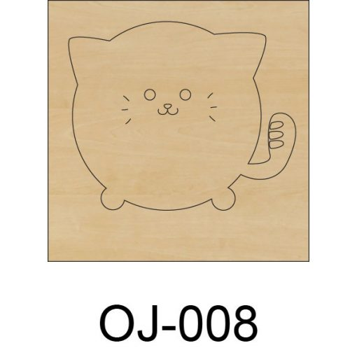 Ovis jel fából Macska