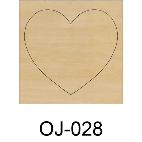 Ovis jel fából Szív