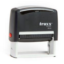Automata fekete TRAXX  9015 bélyegző egyedi kék lenyomattal