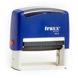 Automata kék TRAXX  9015 bélyegző egyedi piros lenyomattal