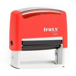 Automata piros TRAXX  9015 bélyegző egyedi zöld lenyomattal