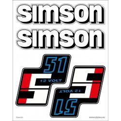 Simson öntapadós műanyag alapú öntapadós matrica szett