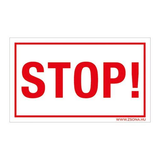 Stop! Öntapadós matrica