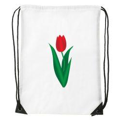 Tornazsák Ovis jellel - Tulipán mintával
