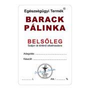 Pálinkás cimke Belsőleg Barack 10 db/csomag