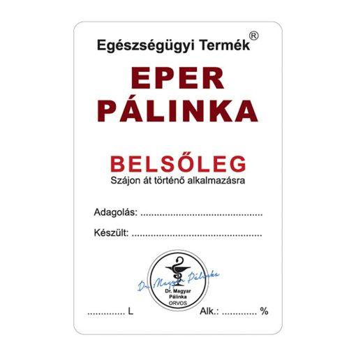 Pálinkás cimke Belsőleg Eper 10 db/csomag