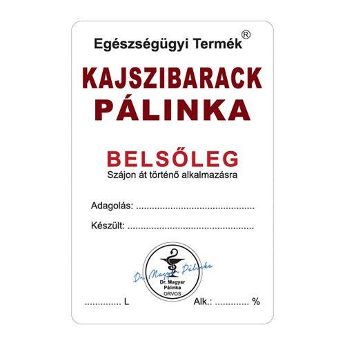 Pálinkás cimke Belsőleg Kajszibarack 10 db/csomag