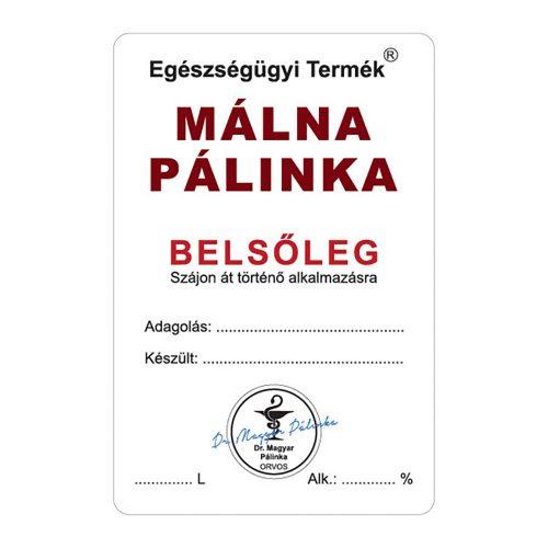 Pálinkás cimke Belsőleg Málna 10 db/csomag