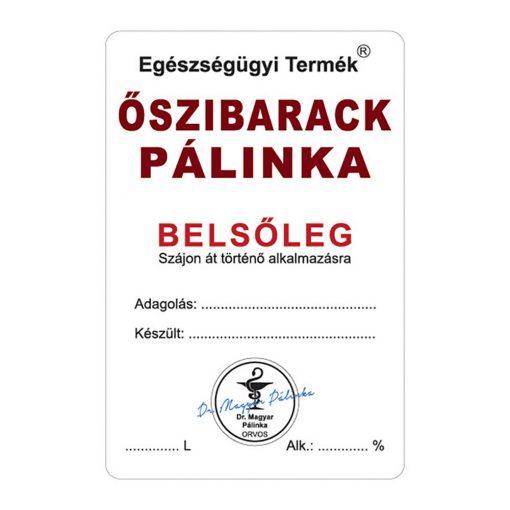 Pálinkás cimke Belsőleg Őszibarack 10 db/csomag