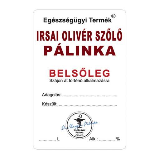 Pálinkás cimke Belsőleg Irsai olivér szőlő 10 db/csomag