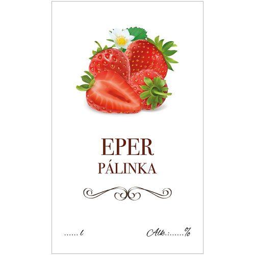 Pálinkás cimke ECO Eper 10 db/csomag