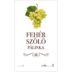 Pálinkás cimke ECO Fehér szőlő