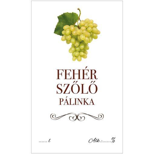 Pálinkás cimke ECO Fehér szőlő 10 db/csomag