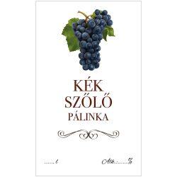 Pálinkás cimke ECO Kék szőlő