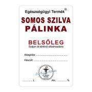 Pálinkás címke Belsőleg Somos szilva 10 db/csomag