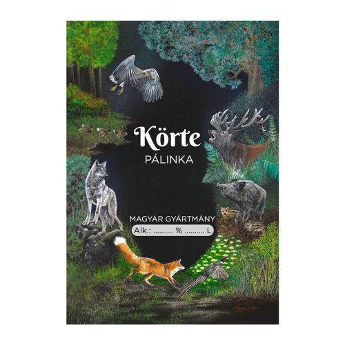 Pálinkás cimke Vadász Körte 10 db/csomag
