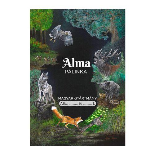Pálinkás cimke Vadász Alma 10 db/csomag