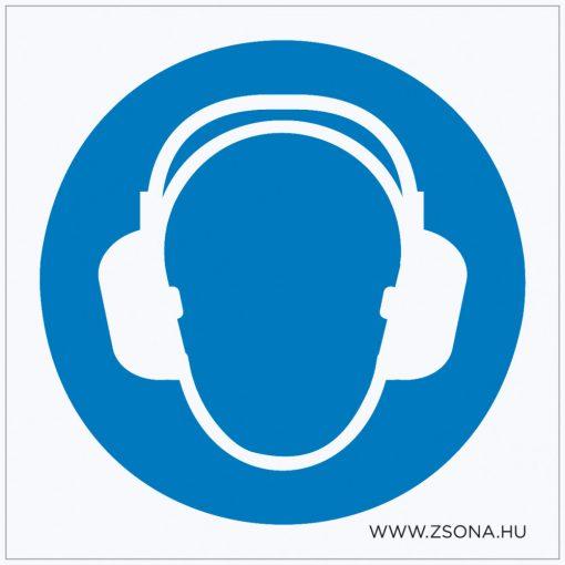 Hallásvédő használata kötelező! Öntapadós matrica