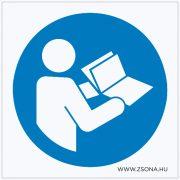 Olvassa el a kezelési útmutatót használat előtt! Műanyag tábla