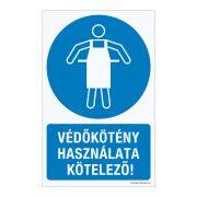 Védőkötény használata kötelező!