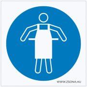 Védőkötény használata kötelező! Műanyag tábla