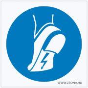 Vezetőtalpú cipő használata kötelező! Öntapadós matrica