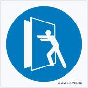 Az ajtó zárva tartandó! Öntapadós matrica