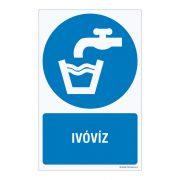 Ivóvíz Műanyag tábla
