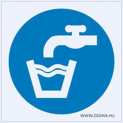 Ivóvíz Öntapadós matrica 100x100 mm