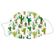Mosható textil szájmaszk Kaktusz mintával