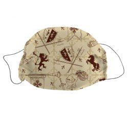 Mosható textil szájmaszk Lovag mintával