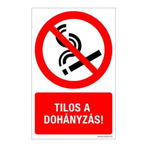 Tilos a dohányzás! Műanyag tábla.