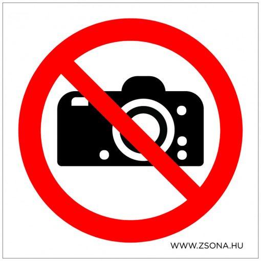 Fényképezni tilos! Öntapadós matrica 100x100 mm