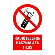 Rádiótelefon használata tilos! Öntapadós matrica