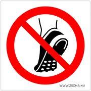Fémszemcsés lábbelit viselni tilos!