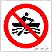Csónakázni tilos! Öntapadós matrica