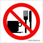 Evés és ivás tilos!