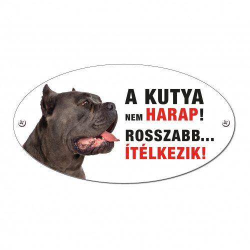 Vigyázz a kutya harap tábla alumíniumból Cane Corso