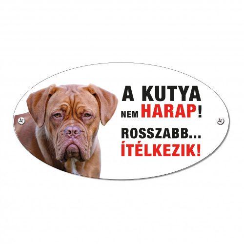 Vigyázz a kutya harap tábla alumíniumból MASZTIFF