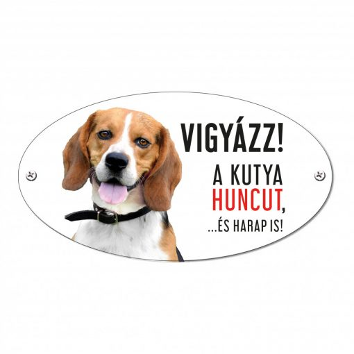 Vigyázz a kutya harap tábla alumíniumból BEAGLE